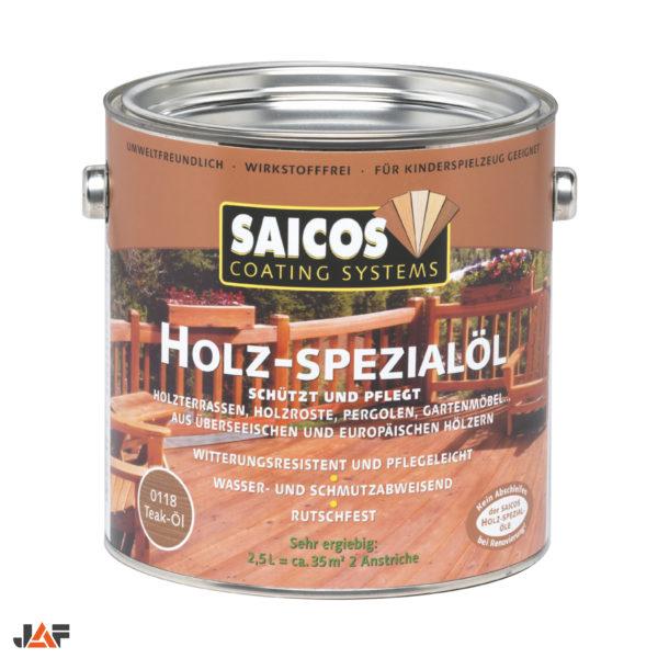 JAF Масло для террас и садовой мебели Saicos Holz-Spezialol тик укрывистое
